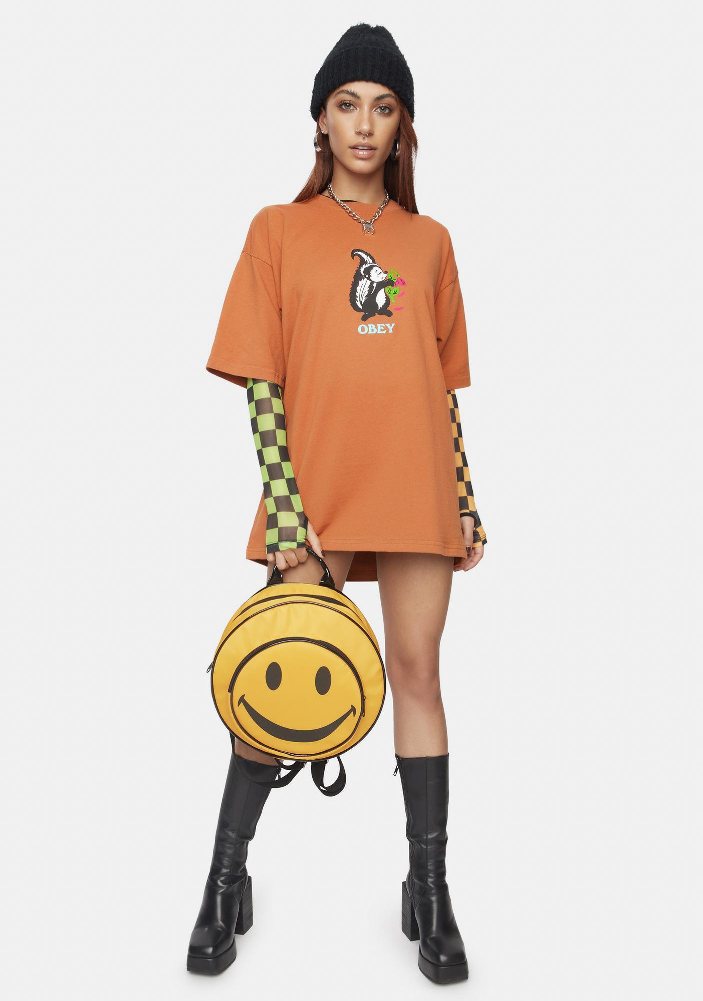 Obey Pumpkin Spice Love Stinks Graphic Tee
