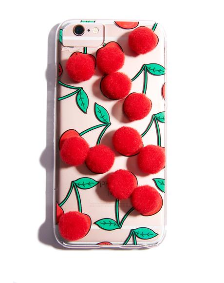 Cherry Pom iPhone Case