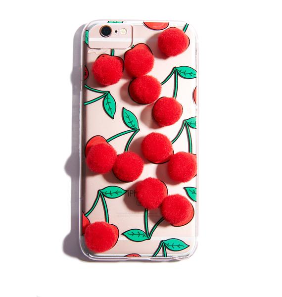 Skinnydip Cherry Pom iPhone Case