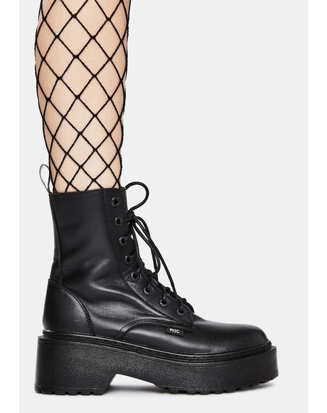 Tomboy Leather Combat Boots