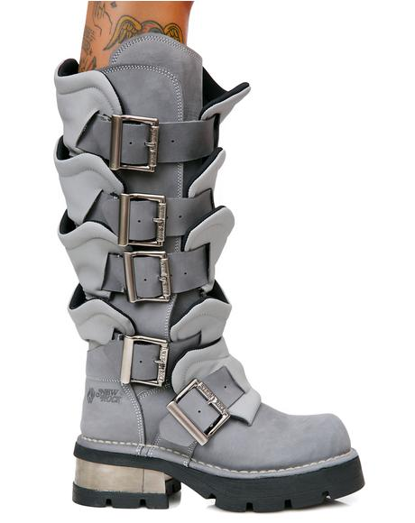Valhalla Armor Buckle Boots