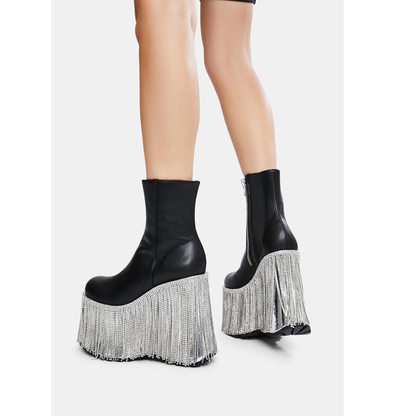 Club Exx Dream Me Up Fringe Platform Boots