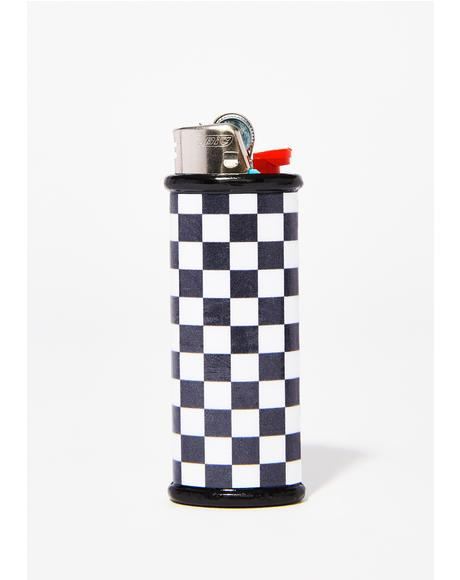 Checkered Lighter Case