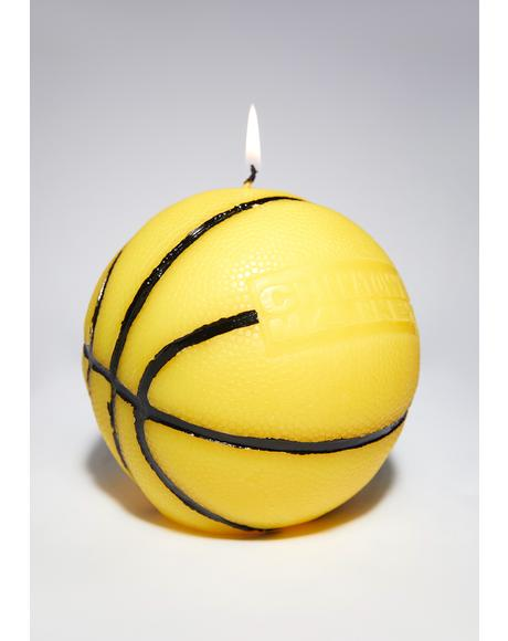 Smiley Mini Basketball Candle