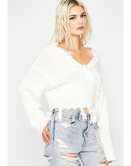 Pure Summer Bummer Wrap Sweater