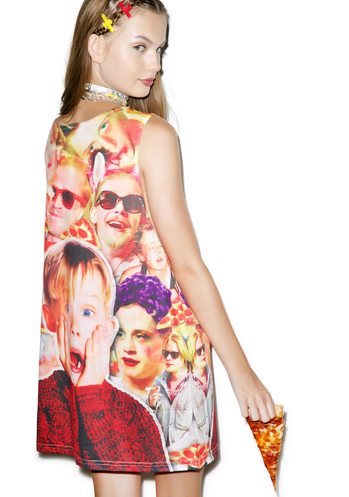 Pizza Party Monster Tank Top