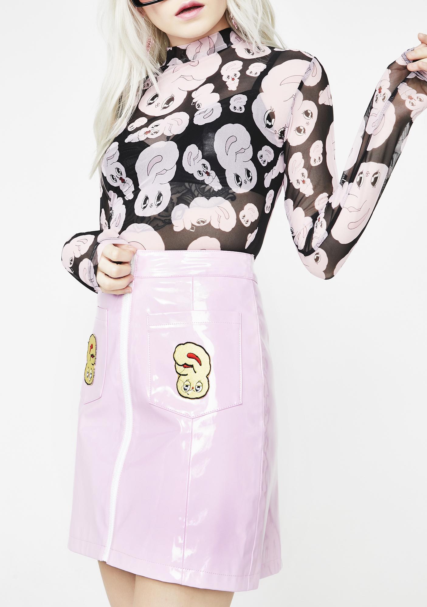 Lazy Oaf Vinyl Bunny Skirt