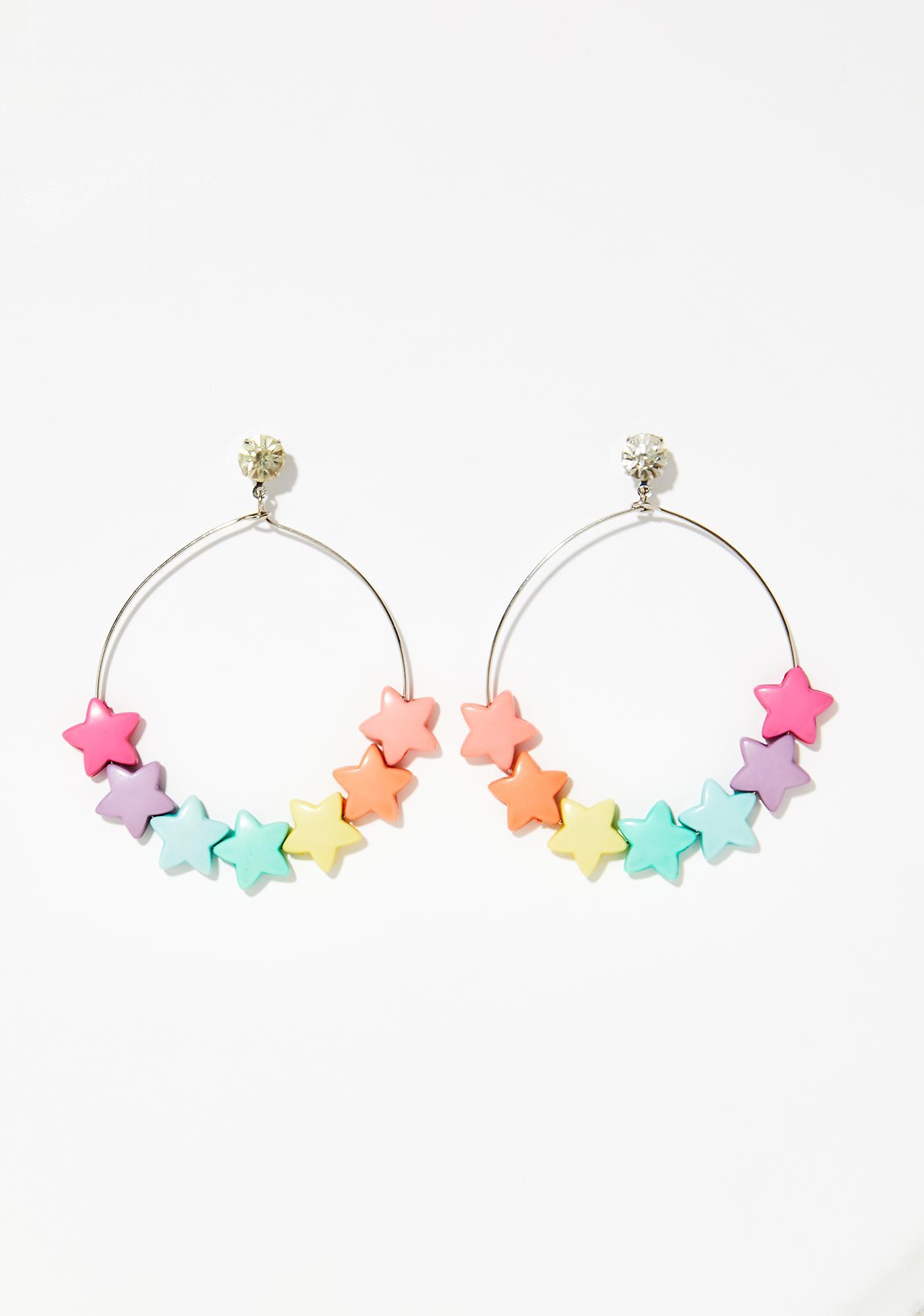 Star Shine Hoop Earrings