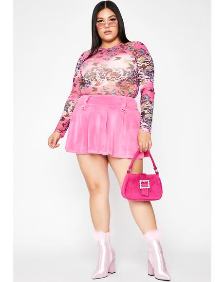True Natural Glam Mesh Bodysuit