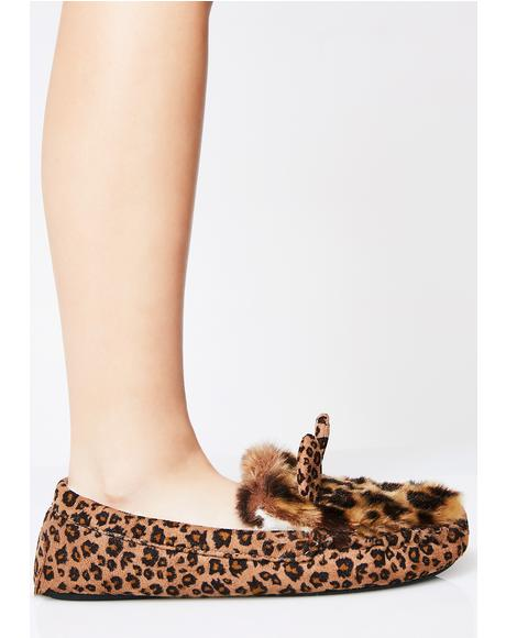 Leopard Hop On It Slippers