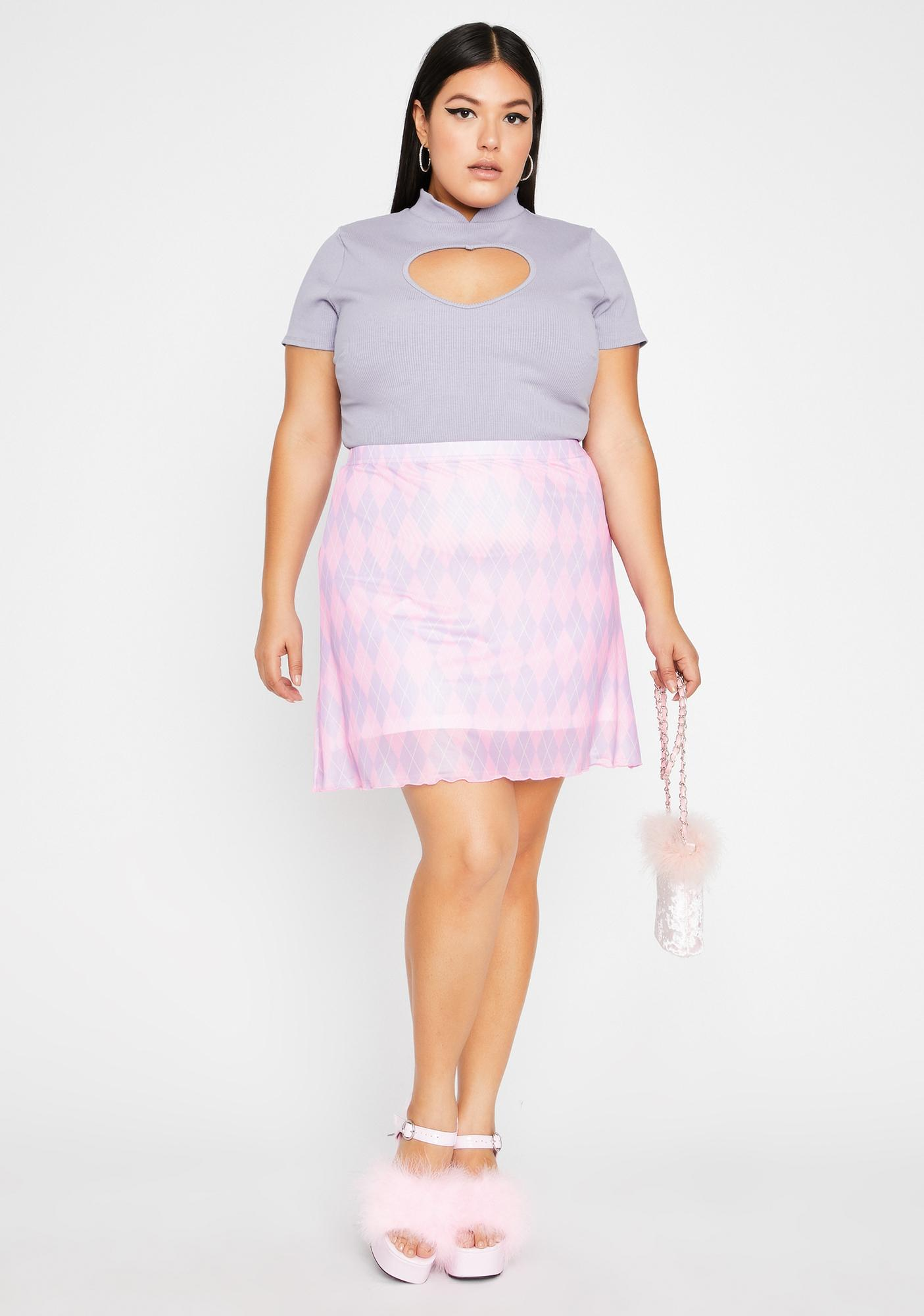 Lilac Miss Love More Cut-Out Top