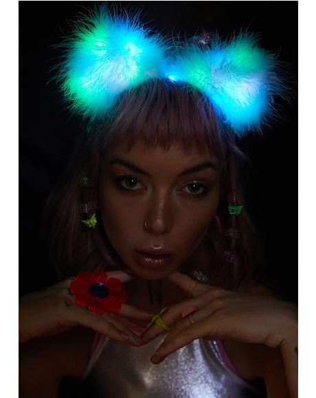 Rainbow Fuzz Wuzzy Ears