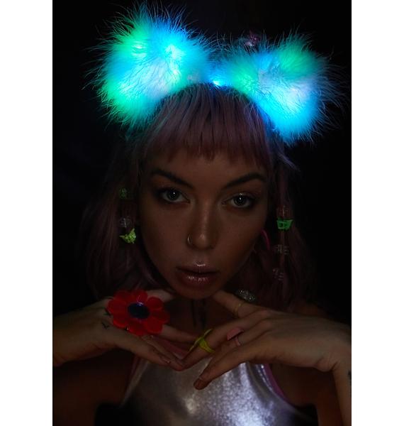 FlowerChild Revolution Rainbow Fuzz Wuzzy Ears