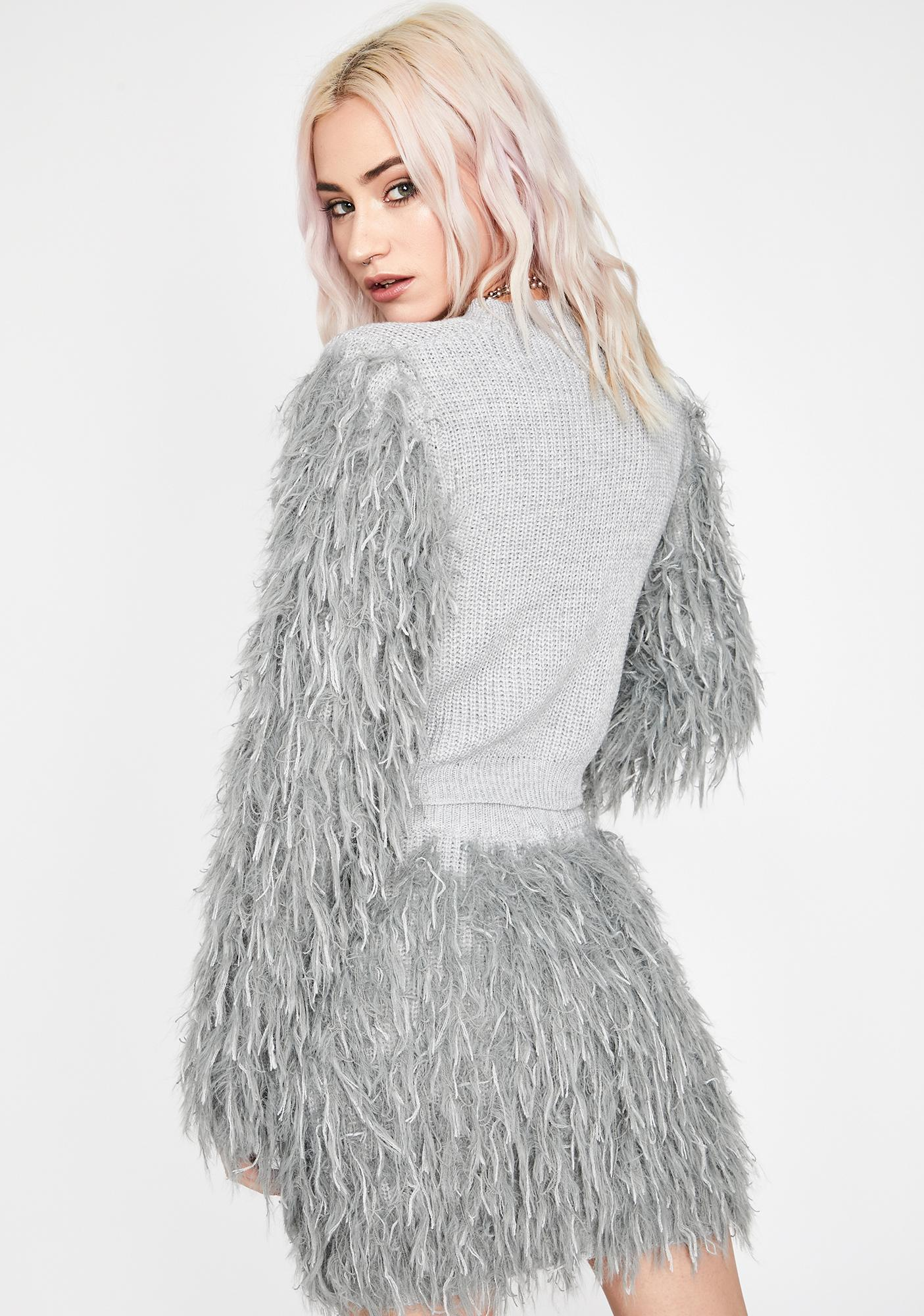 Dove It's Furreal Crop Sweater