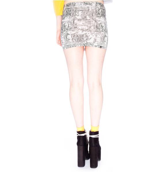 Insight Vintage Motif Tube Skirt
