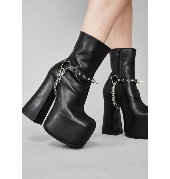 Bad Witch Spike Boot Harness Set