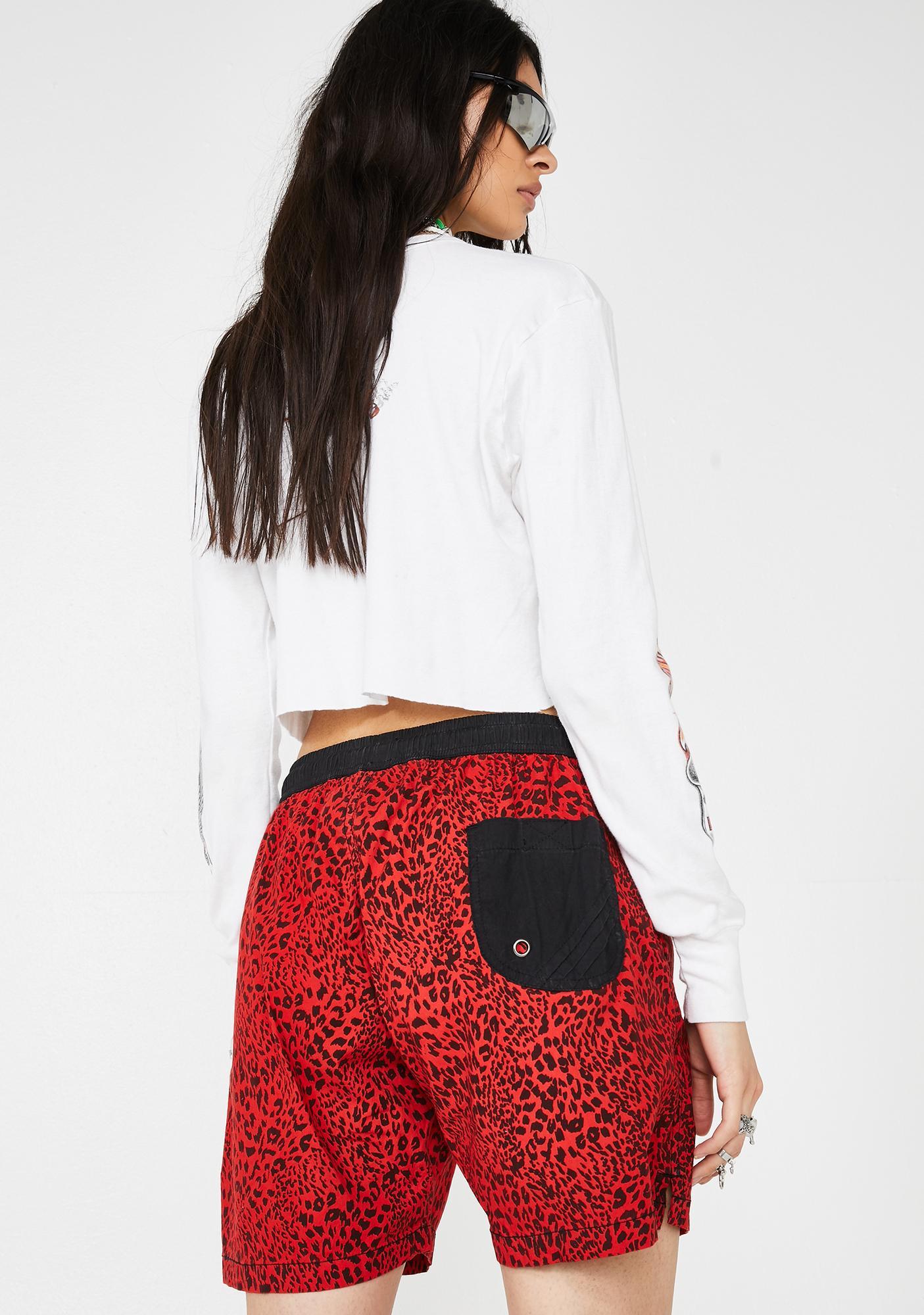 The People VS Easy Boardie Leopard Shorts