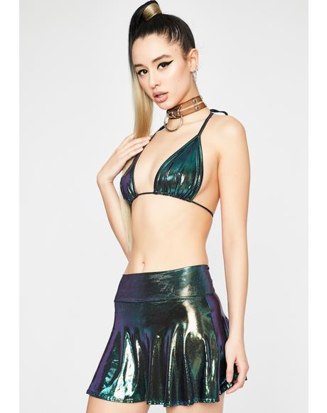 Dank Intergalactic Bae Skirt Set