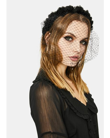 Parlor Party Veiled Floral Headband