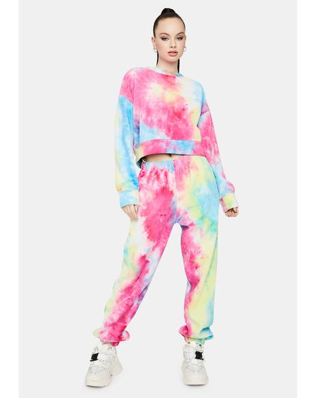 Diva Living The Dream Tie Dye Jogger Set