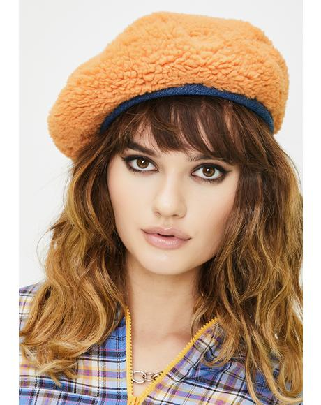 Kiss Goodbye Faux Fur Beret