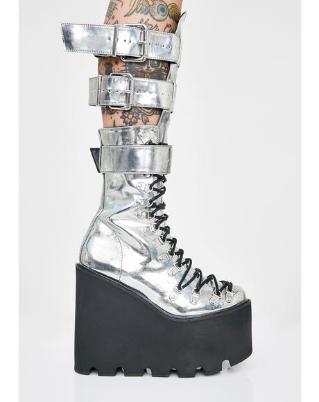 Metallic Guardian Boots
