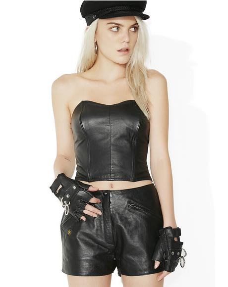 Vintage Harley Leather Shorts