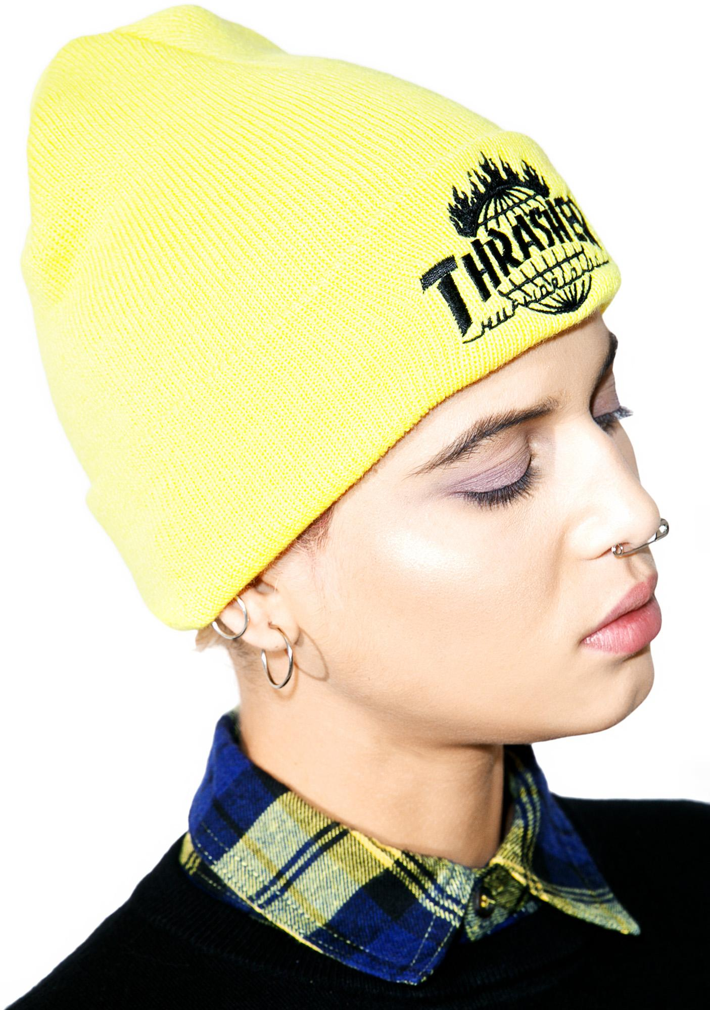 HUF X Thrasher Tour De Stoops Yellow Beanie