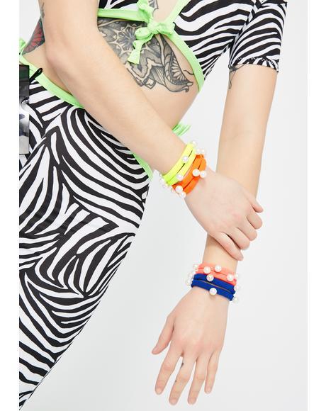 Electric Carnival Hair Tie Set