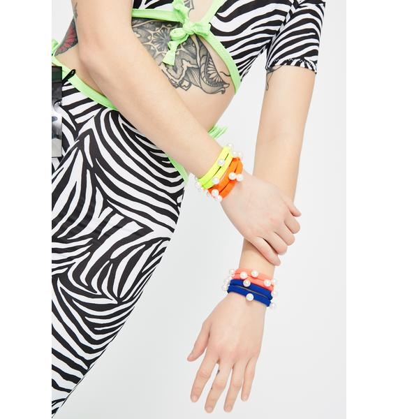 Electric Carnival Hair Tie Set