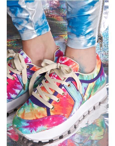Tune Rainbow Tie Dye Sneakers
