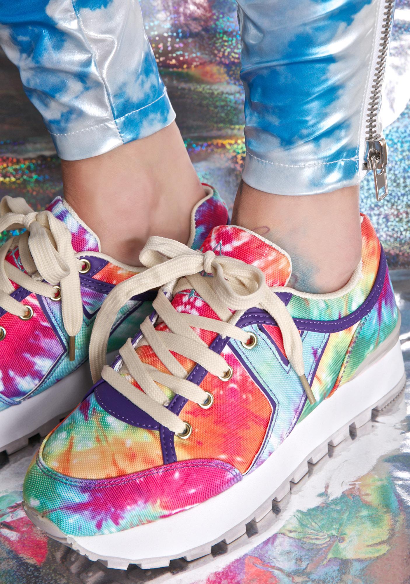 19e10bf28ac Y.R.U. Tune Rainbow Tie Dye Sneakers
