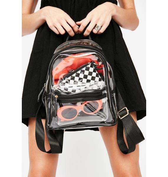 Clear Crazze Mini Backpack