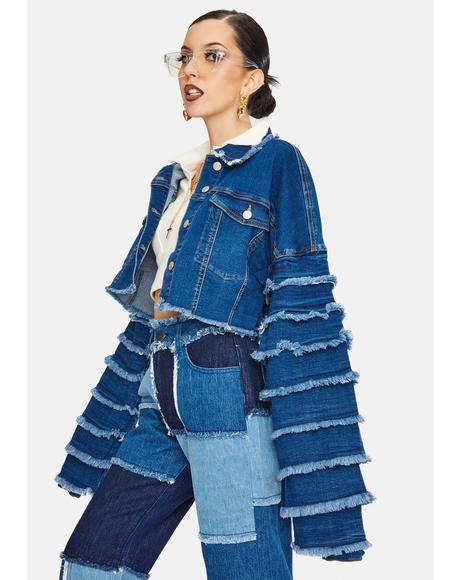 Drama Cropped Denim Jacket