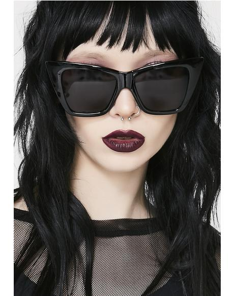Dark Hollywood Hillz Cat Eye Sunglasses