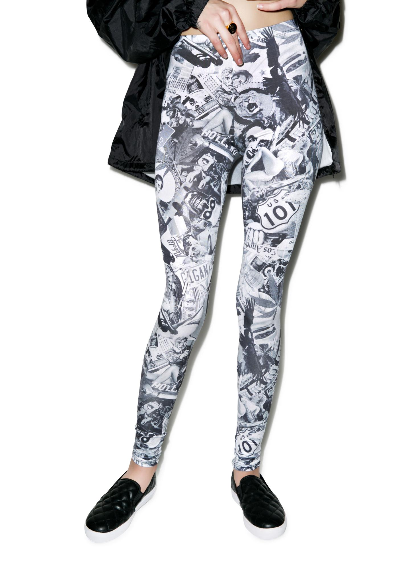 Rebel8 Killa Kollage Leggings