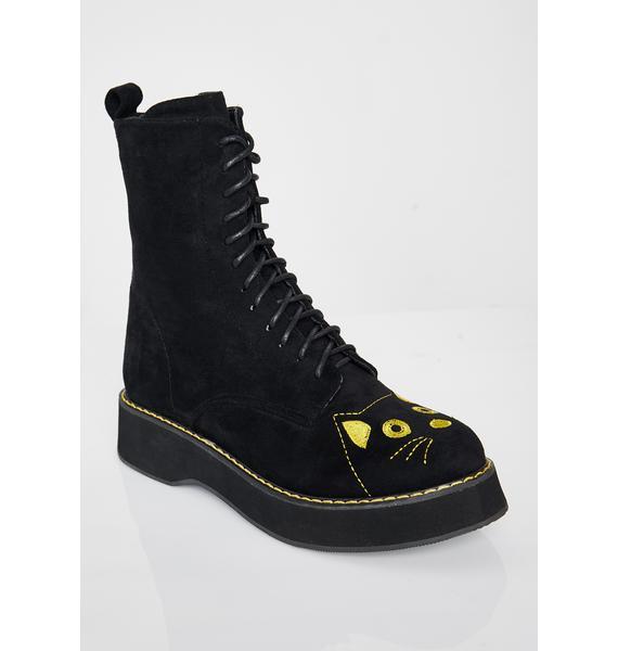 Koi Footwear Felix Cat Face Ankle Boots
