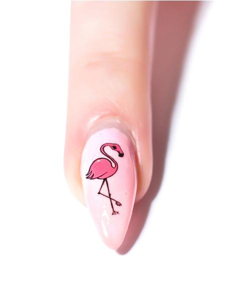 Flamingo Water Slide Decals