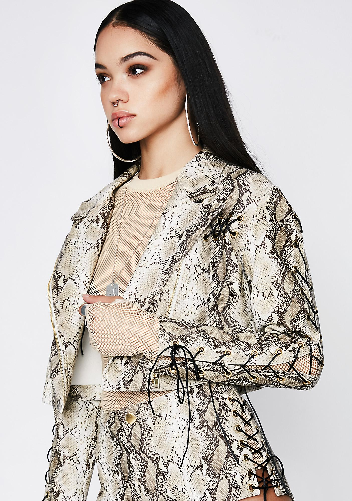 Poster Grl Deadly Bite Snake Jacket