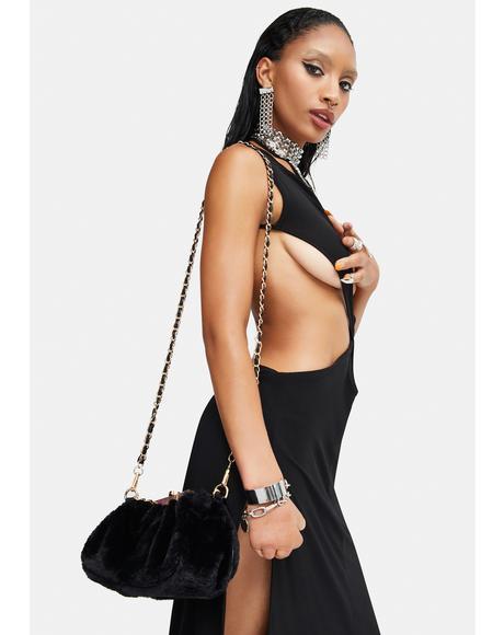Leece Fuzzy Handbag