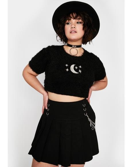 Atomic Astral Projection Pleated Skirt