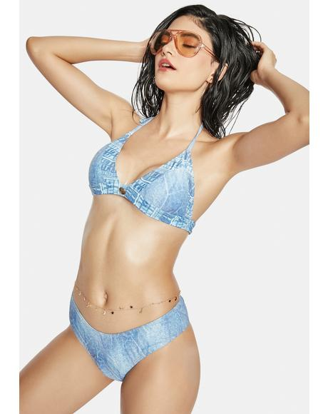 Having The Blues Denim Bikini Set