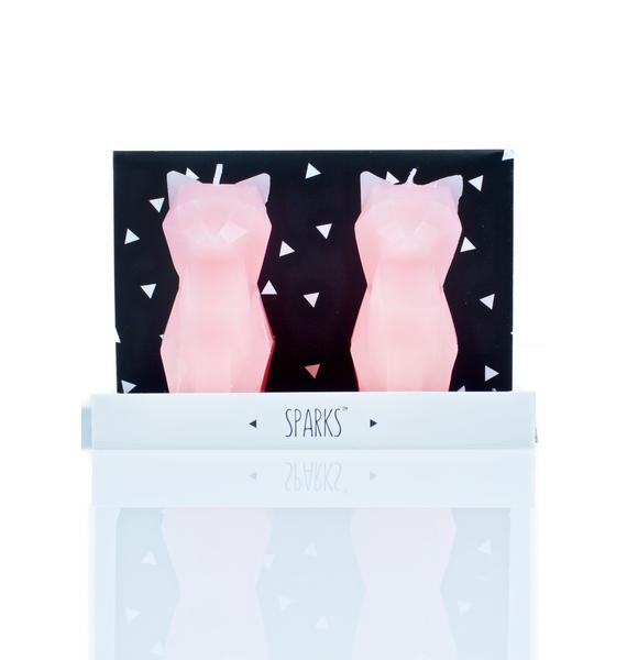 PyroPet Sparks Cat Candle Set