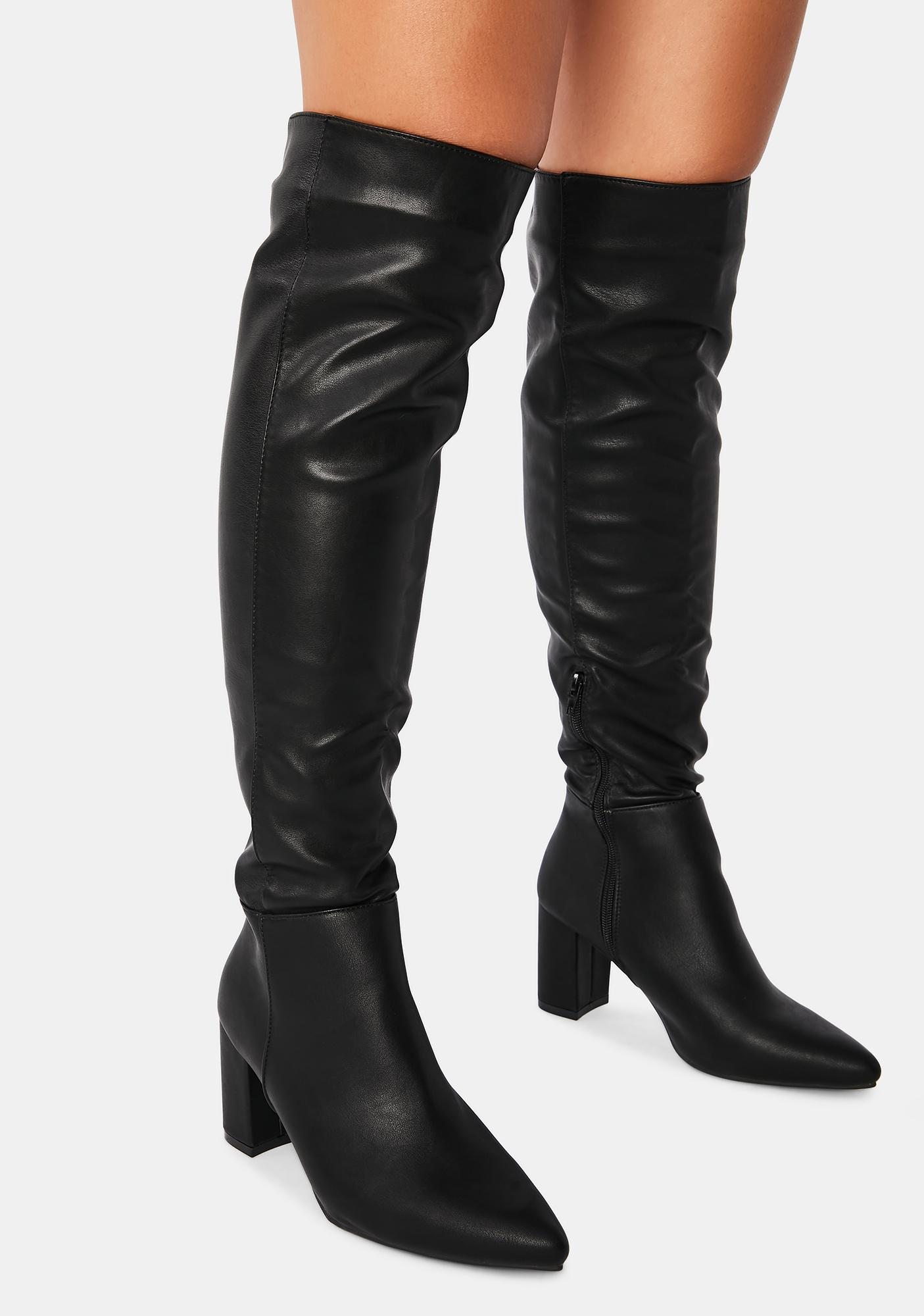 Go Go With The Flow Knee High Boots