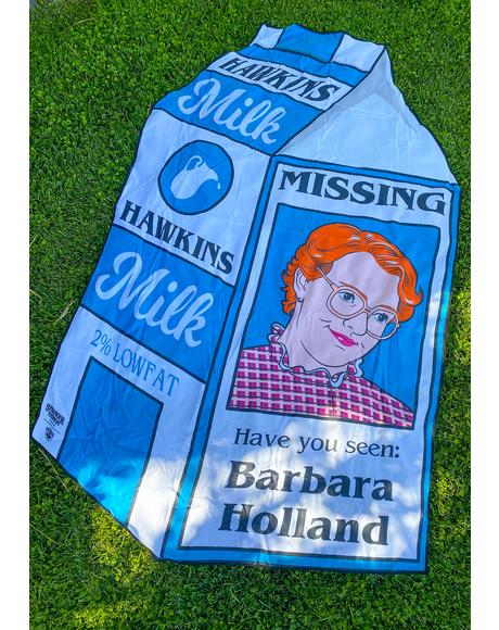 Stranger Things Barb Milk Carton Towel