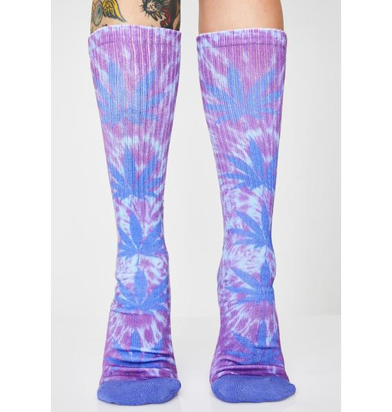 HUF Plantlife Digital Dye Socks