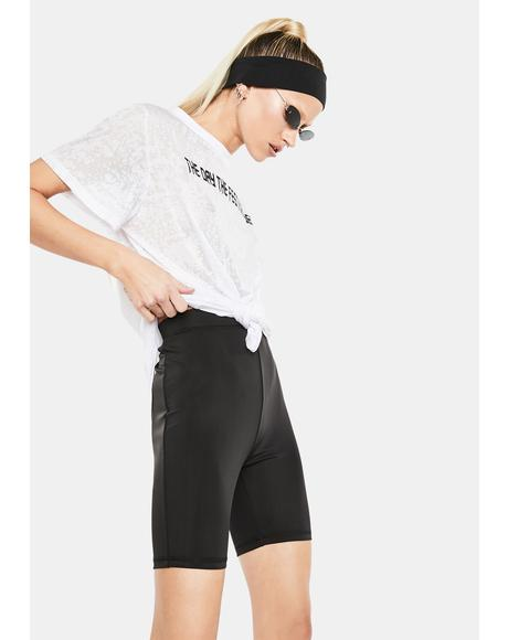 Body Talk High Waist Biker Shorts