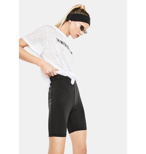 Club Exx Body Talk High Waist Biker Shorts