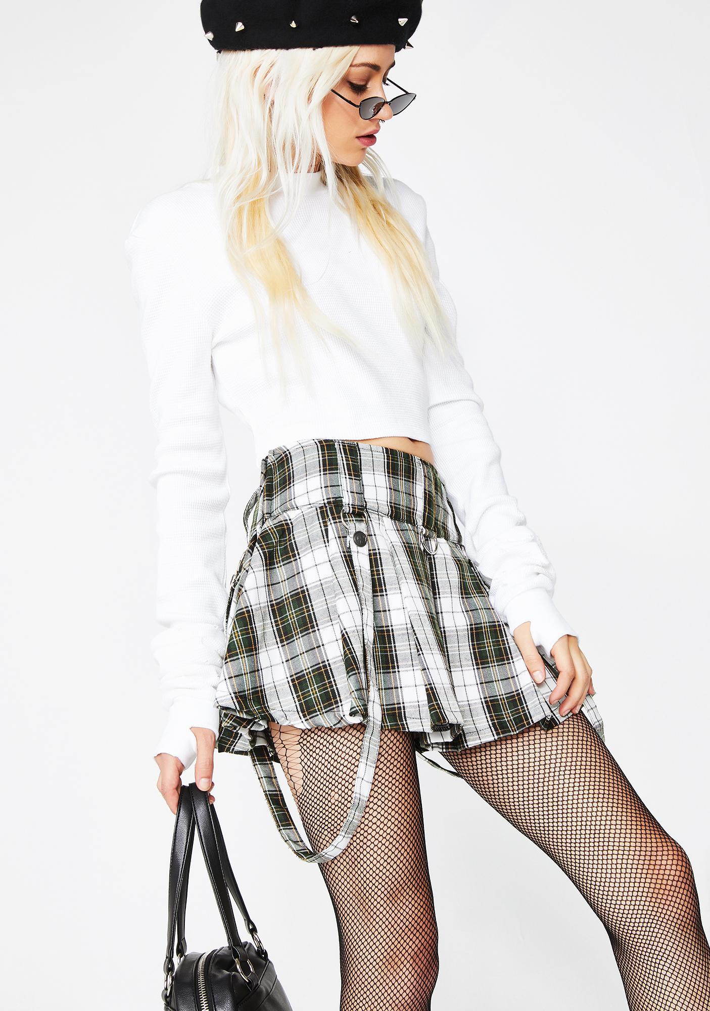 Current Mood Good Grl Gone Plaid Skirt