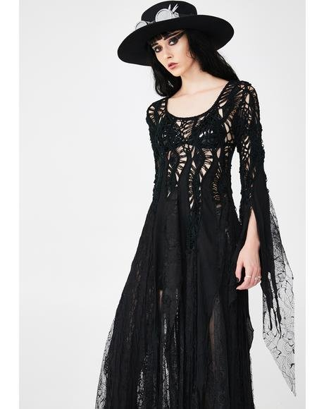 Gothic Elegant Maxi Dress